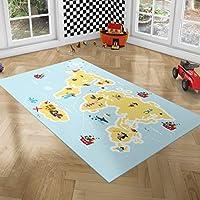 PLAYGROUND Vloerkleed Kinderkamer - Speelmat Foam met Piratenschepen - Oprolbaar Speeltapijt met Antislip Onderkant,...