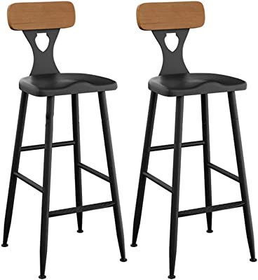 Barstools High Chair Exquisite 2 Pcs Bar Chair Kitchen Pub Stools Breakfast Dining Chair Counter Black