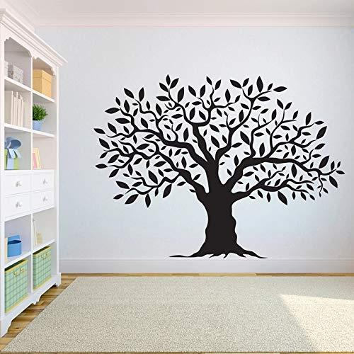 WERWN El árbol de la Vida Pegatinas de Papel Tapiz la raíz de la Vida árbol pájaros voladores Pegatinas de Vinilo de Pared Decorativas Paredes del hogar
