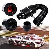 """Set filtro aria sportivo, nero, 3"""", Carbon Dynamic Airbox, universale per tutti i veicoli"""