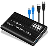 PANMAX Audio Video Capture Card, HDMI to USB3.0 4K Full HD 1080P 60fps for PS4, Xbox One & Xbox 360 Game Streaming Live Broadcasting(Black)