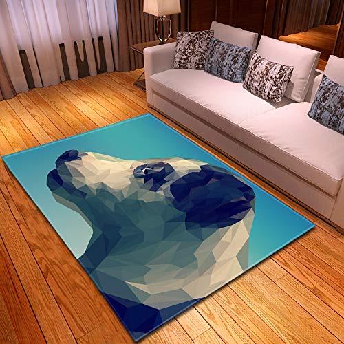 Michance 3D Realistischer Tiermusterteppich Langlebige Fußmatten Für Haustiere, Die Keine Haare Verlieren Großes Fußpolster, Geeignet Für Büro, Zuhause, Einkaufszentrum