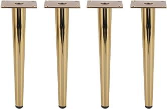 Altura 150mm forma redonda 4un Pata pie mueble en madera de haya natural en crudo sin barnizar