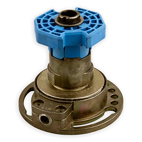 DIWARO® Kegelradgetriebe K034 | Untersetzung 4:1 rechts | Antrieb 6mm Innenvierkant (durchsteckbar) | für SW 60 achtkant Stahlwelle | Rolladengetriebe, Kurbelgetriebe