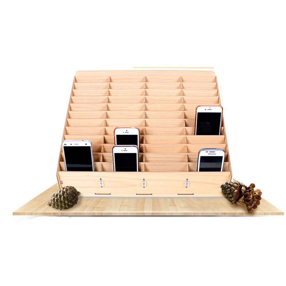 GXMWD Paletas de Madera Cajas de Herramientas Caja de Almacenamiento de Pantalla móvil de Escritorio Caja de Almacenamiento de gestión de reparación de teléfono para Escuela de Oficina, 30 celosía: Amazon.es: Hogar