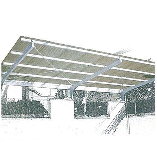 三菱ケミカル ポリカーボネート波板 ヒシ波ポリカ 8尺 10枚入り 『カーポート・テラスの屋根の修理、雨漏りなどのメンテナンスやリフォームをDIYで』 クリア