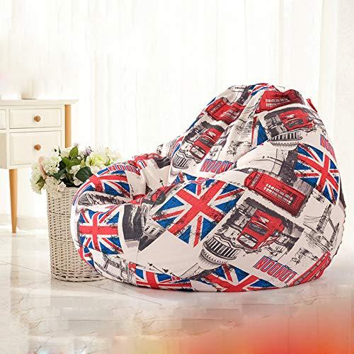 Xin Hai Yuan Bean Bag Sofá Sillas Funda, Classic Lazy Lounger Bean Bag Silla De Almacenamiento para Adultos Y Niños para El Hogar Jardín Salón Sala De Estar Interior Exterior,Burst,S 80 * 90cm