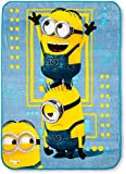 Kids Warehouse Despicable Me Minions Blue & Yellow Plush Throw - 50' by 46'