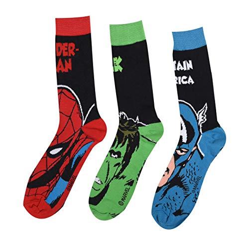 Marvel Herren 3er Pack Crew Socken Freizeitsocken Marvel Herren 41-46