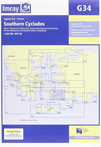 Imray Chart G34: Southern Cyclades (Imray Chart G034)