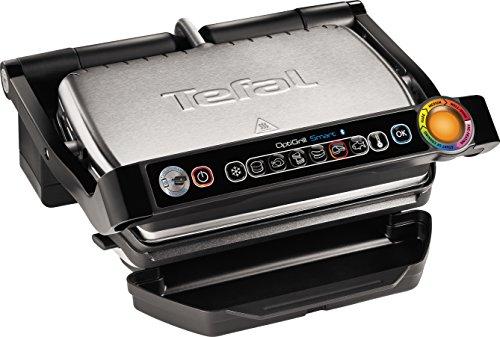 Tefal GC730D OptiGrill+ Smart contactgrill, 2.000 watt, zwart/roestvrij staal