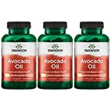 Swanson Avocado Oil Made with Organic Avocado Oil 1 g 60 Sgels 3 Pack