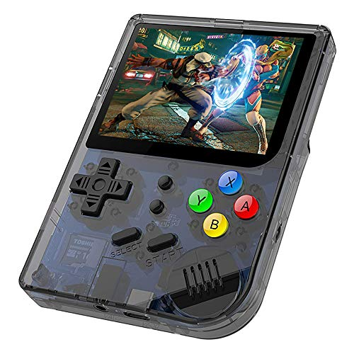DREAMHAX RG300 Portable Game Console with Open Linux System Preload 10000 Games, Handheld Video Games with 16G + 32G TF Card 3 Inch IPS Screen, Arcade Retro Gameboy Gifts (Black)
