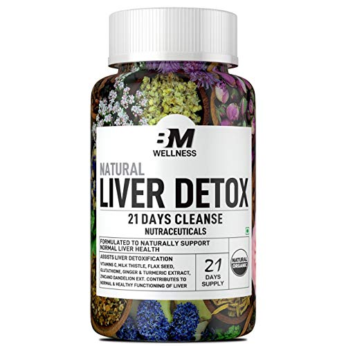Bigmuscles Nutrition Liver Detox, 21 Days Liver Cleanse Supplements with Milk Thistle, Dandelion Root for Healthy Liver Function, Ginger/Turmeric extract, Natural Detox Cleanse, Immunity Support, 42 tablets