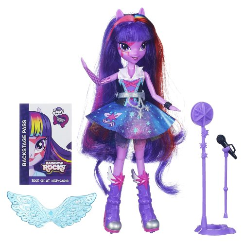 My Little Pony Spielzeug – Equestria Girls – Rainbow Rocks – Singen Twilight Sparkle Deluxe Fashion Puppe