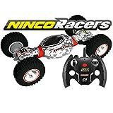 Ninco NH93136 NincoRacers-Escalator. Coche teledirigido adaptable reversible acrobático con tracción total. 2.4GHz Color: Blanco, rojo y gris. Medidas: 17 cm x 40 cm x 10 cm, multicolor