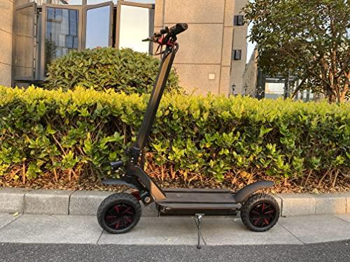 Actualizar Scooter eléctrico Adultos 3000W 60V 20AH Batería de Litio Velocidad máxima 70KM / H Patinete Plegable de Doble tracción Potente patineta
