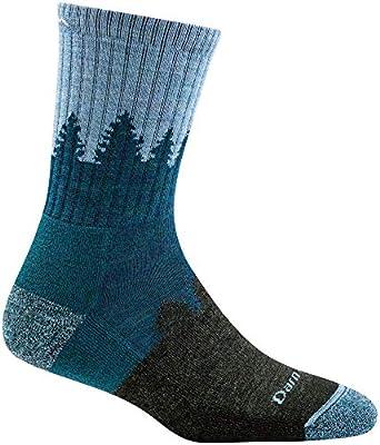 Darn Tough Treeline Micro Crew Cushion Sock - Women's Blue Medium