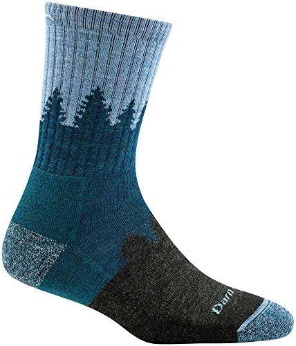 Darn Tough Treeline Micro Crew Cushion Sock - Women's Blue Medium