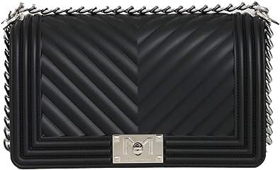 Marc Ellis Borsa flat M tracolla black/silver