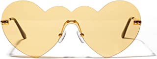 Sunglasses Fashion Accessories Conjoined Big Box Heart Shaped Sunglasses UV Protection Party Fashion Accessories (Color : Yellow)