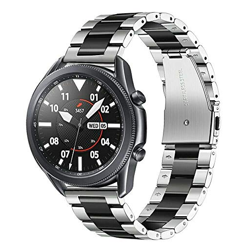BNBUKLTD - Correa para reloj Huawei Watch GT 2e de acero inoxidable, Hombre, color * Plateado/negro., tamaño Talla única