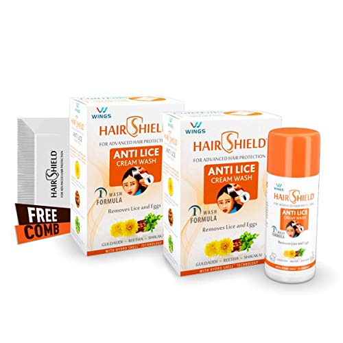 Hairshield Anti Lice Cream Wash Free Head Lice Comb With Every Pack (30 Ml X Pack Of 2 = 60 Ml)