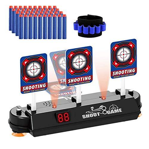 Topways® Objetivo Digital Electrónico para Pistolas Nerf, Auto Reset Scoring de Disparo Objetivo Reinicio Automático para Nerf Pfeile Juguete Pistolas N-Strike Elite / Mega / Rival Serie