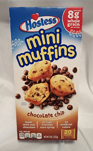 Hostess Mini Muffins - 20 Muffins Per Box(5 Pouches) (Chocolate Chip)