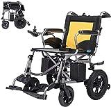 Ligero y simple, silla de ruedas eléctrica para ancianos, patineta, para trastornos de las piernas, andador, silla de enfermería, marco de aleación de aluminio ligero, silla de viaje de doble motor mu