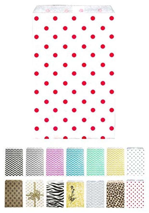 Novel Box? Red Polka Dot Print Paper Gift Candy Jewelry Merchandise Bag Bundle 6X9