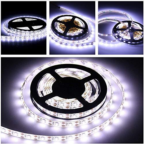 Batteriebetriebene LED-Lichtbänder, 2 Meter wasserdichtes, flexibles Klebebandlichter Bandlicht Stimmungslicht mit Fernbedienung, Timer, 8-Modus, dimmbar für Schlafzimmer zu Hause Küche Party Bar Bett