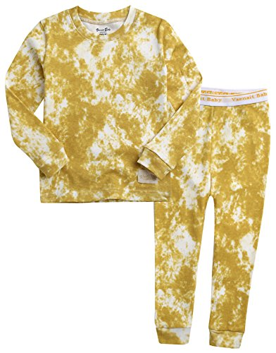 Vaenait Baby Kids Boys 100% Cotton Sleepwear Pajamas 2pcs Set Prisim Mustard XL