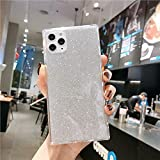 Cocomii Square Glitter iPhone 12/12 PRO Custodia, Sottile Lucido Morbido TPU Silicone Bordi Quadrati del Baule Case Bumper Cover Paraurti Compatible with Apple iPhone 12/12 PRO 6.1' (Silver)