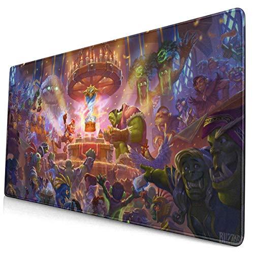 Hearthstone Heroes of Warcraft 5 - Tappetino per mouse da scrivania e ufficio, 15 x 29,5 cm
