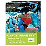 New & Improved AQUA 6 Piece Fitness Set for Water Aerobics, Pool Exercise Equipment, Aquatic Swim...