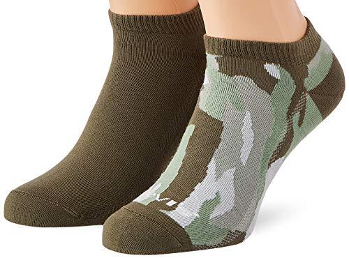 Levi's Camo Low Cut Socks (2 Pack) Calcetines, verde medio/oscuro, 39-42 Unisex Adulto