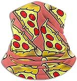 Belongtu Nackenwärmer Schal Halstuch Cute Feed Me Love Pizza Fleece Neck Warmer Heat Trapping Sun-Proof Neck Gaiter Tube,Ear Warmer Headband & Face Cover