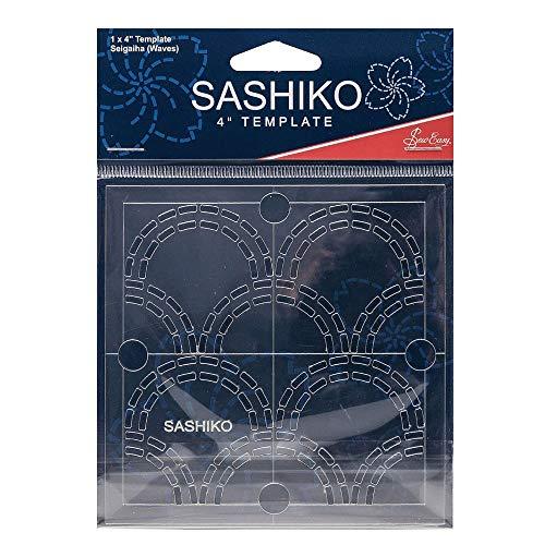 Sew Easy Sashiko Stickvorlage 4 x 4in Seigaiha (Wellen)