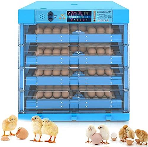 VULLDWS Incubadora De Huevos con La Secadora LED, Torneado Automático, 256 Huevos Hatcher De Aves De Corral Grande para Incubar De Pollo Pato Ganso Codornices Pájaros Pavo