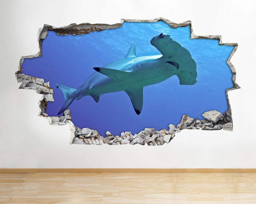 Milwaukee Mall LHHYY Wall Stickers Big Sea Fish Underwater Beauty products Ocean