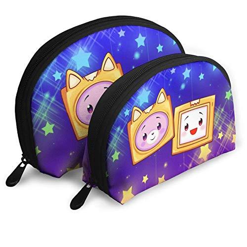 XCNGG Lankybox Merch Lankybox Boxy Fashion Cosmetic Bags Bolso portátil Clutch Pouch Set Mujeres Hombres Monedero de viaje con cremallera Organizador de bolsos 2pcs