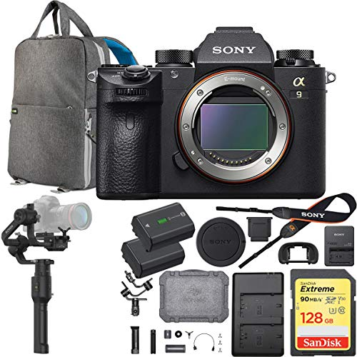 Cheapest Price! Sony a9 Full Frame Mirrorless Interchangeable Lens Camera Body ILCE9/B with DJI Roni...