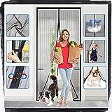 Upgraded Magnetic Screen Door with Durable Fiberglass Mesh Curtain Door Net Screen Magnet Screen Door Curtain 38x83 inchs for French Doors Magnet Screen for Patio Screen Door Mesh Screen with Magnet