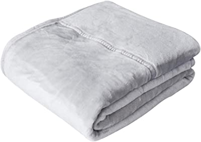 LINT Free Plain Weave White Urban Villa Cotton Thermal Blanket Made from 100/% Soft Premium Cotton Perfect for Layering in Bed Twin 66x 90