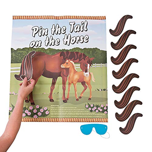 Pin the Tail on the Horse Party Game for Children (1)