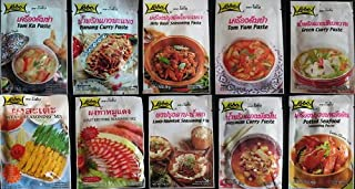 10 Lobo Seasoning Mix Paste & Curry Paste Thai Food Made in Thailand