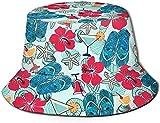 DUTRIX Zapatillas de Concha de Playa Verde Sombrero de Cubo con Estampado de...