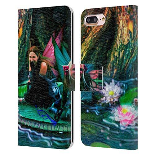 Head Case Designs Licenciado Oficialmente Aimee Stewart Estanque de Bola de Mariposa Fantasía Carcasa de Cuero Tipo Libro Compatible con Apple iPhone 7 Plus/iPhone 8 Plus