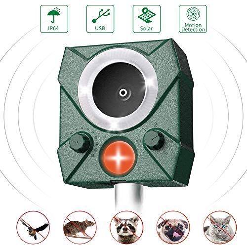 AWLGAK Repellente Gatti,Ultrasuoni Gatti Solar Animale Repeller Impermeabile per...